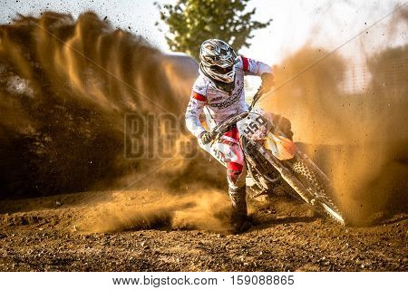 Gdansk, Poland - September 10 : Undefined Rider On Polish Motocross Championship Poland, Gdansk 10 S