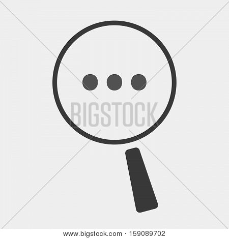 Isolated Magnifier With  An Ellipsis Orthographic Sign