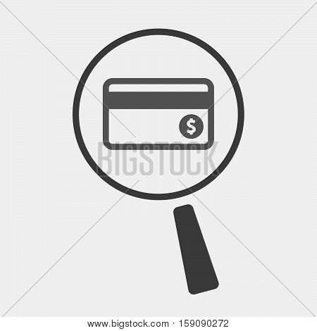 Isolated Magnifier With  A Credit Card