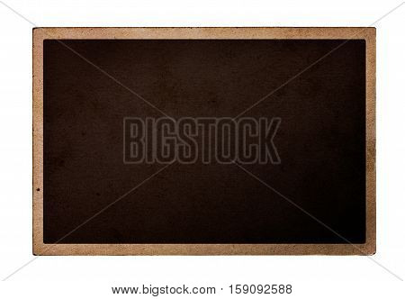 Old photocard isolated on a white background