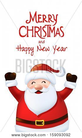 Happy Santa Claus greeting card,