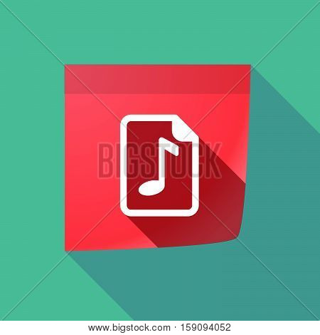 Long Shadow Note With  A Music Score Icon