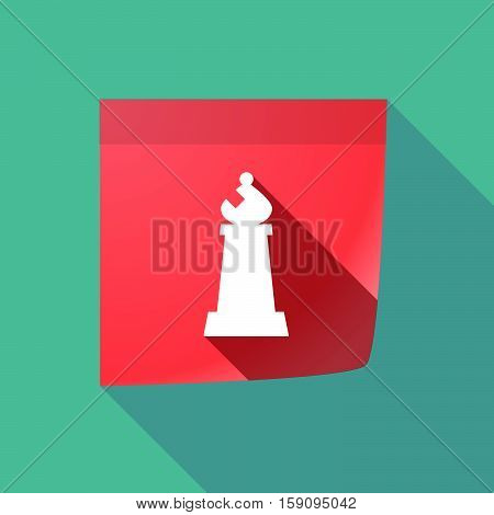 Long Shadow Note With A Bishop    Chess Figure