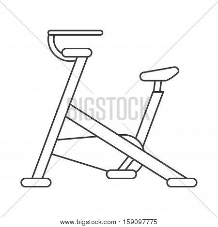 outline stationary bicycle machine gym sport vector illustration eps 10