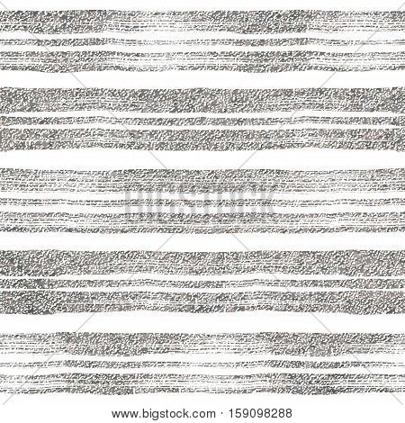Seamless pattern of silver lines, grunge background of silvern stripes, hand drawn vector design for textile, invitation, wedding, greeting card, paper, save the date