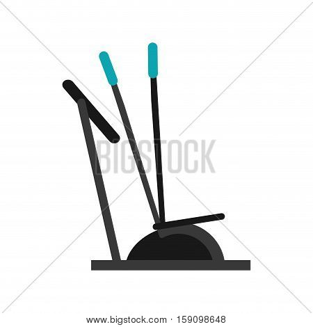 elliptical walker trainer machine gym vector illustration eps 10