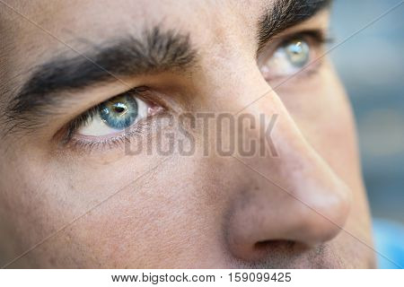 Macro Shot Of Man's Eye