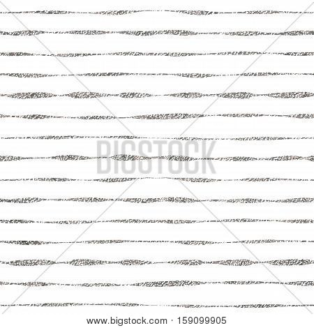 Silver striped seamless pattern, grunge linear background of silvern stripes, silvery texture, hand drawn vector design for textile, invitation, wedding, greeting card, paper, save the date
