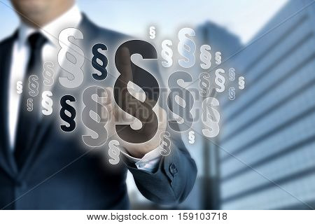 Paragraphs are selected by businessman concept picture