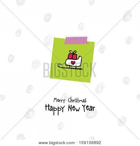 New year greeting card with copy space.