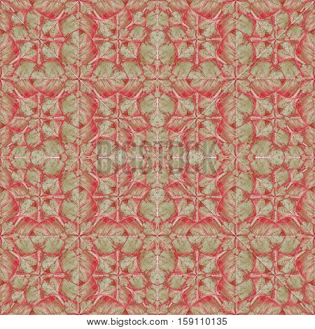 Stylized Floral Ornate Baroque Seamless Pattern