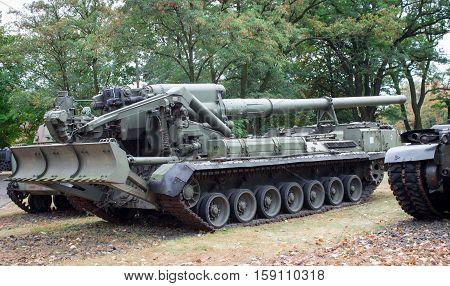 Poland, Poznań -october 1, 2016. 2S7 Pion - Soviet Self-propelled Artillery.