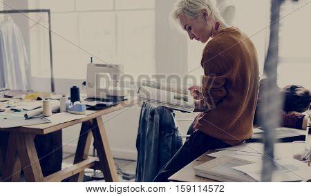 Fashion Design Research Magazine Concept