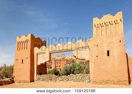 The Entrance Gate To The Fortress Of Ait Ben Haddou