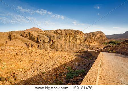 Landscape Of Fint Oasis Near The City Ouarzazate