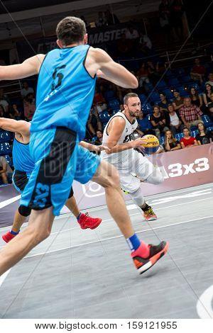 DEBRECEN - SEPTEMBER 8 : FIBA 3X3 BASKETBALL WORLD TOUR MASTERS - PLAYER DEJAN MAJSTOROVIC - STREETBALL IN THE CENTER SQUARE SEPTEMBER 8 2016 DEBRECEN HUNGARIYA