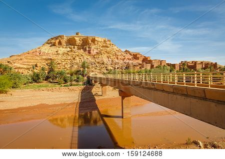 Wadi Asuf Ounia Below The Ksar Ait Ben Haddou