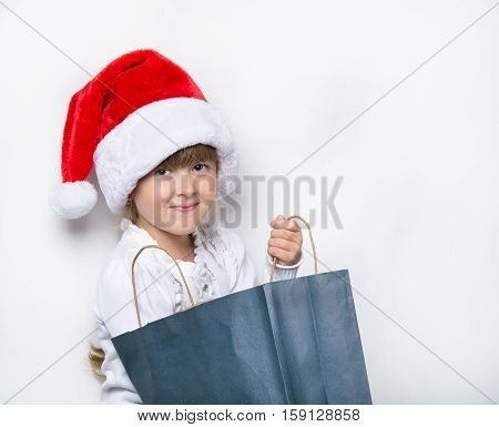 young maiden looking for the gifts in the package