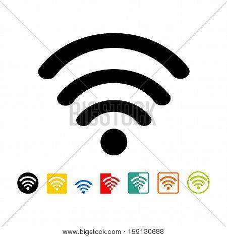Wireless network symbol - isolated on white background