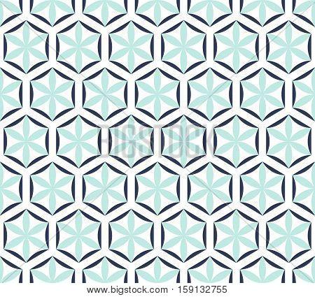 Seamless Geometric Pattern On A White Background.