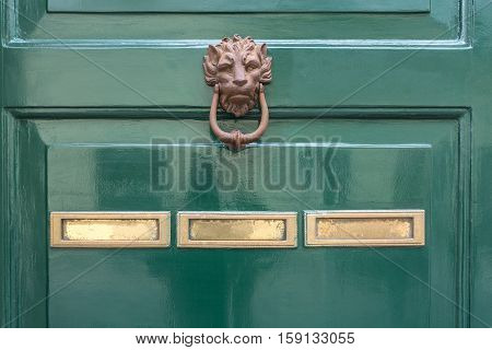 the green door knocker and letterbox concept