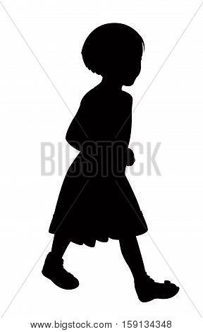 a girl body black color silhouette vector