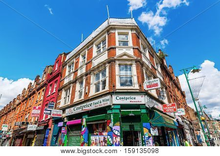 City Buildings Along The Brick Lane In London