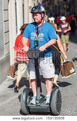 Tourists With Segway In Florence, Italy