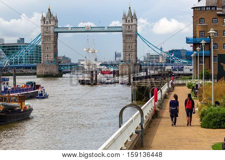 View Over The Thames In London, Uk