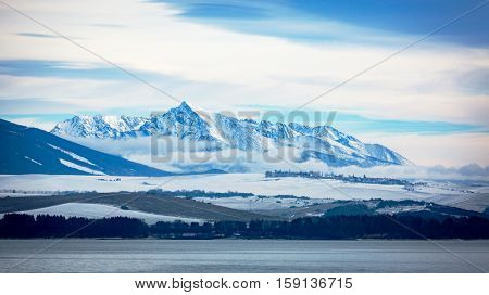 View on Big Tatra mountains in Slovakia