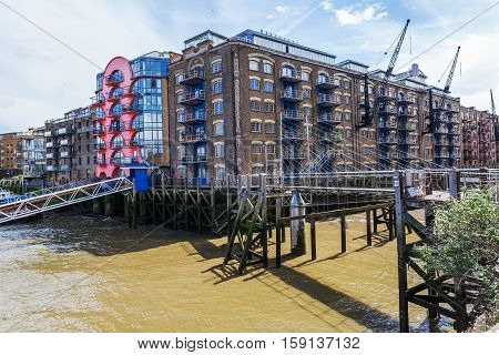New Concordia Wharf In Southwark, London