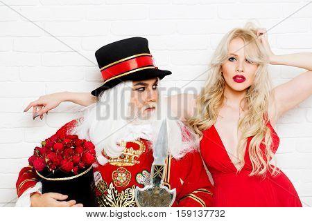Senior Man And Pretty Girl