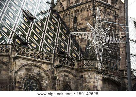 Typical Christmas market in Bolzano, Alto Adige in Italy