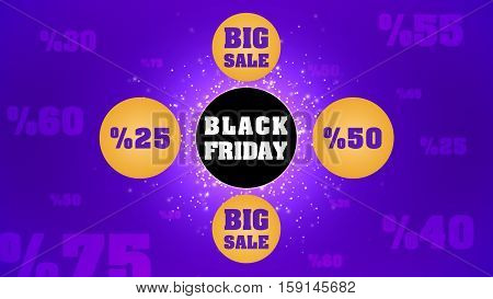 Black Friday Big Sale Background 2D Illustration, Black Friday a Great Opportunity
