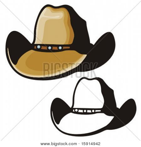 Illustration of a cowboy hat.