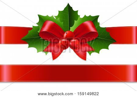Christmas Holly Berry, With Gradient Mesh, Vector Illustration