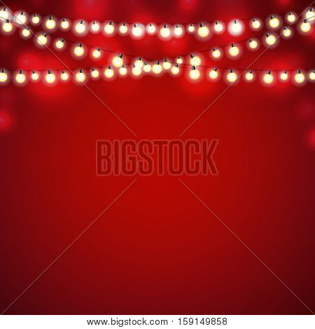 Christmas Lights, With Gradient Mesh, Vector Illustration