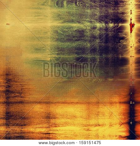 Scratched grunge background or spotted vintage texture. With different color patterns: yellow (beige); brown; green; red (orange); purple (violet)