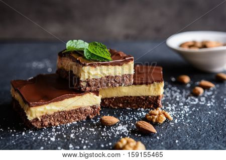 Traditional Canadian Nanaimo Bars