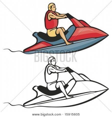 Jet scooter. Vector illustration