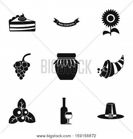 Gratitude celebration icons set. Simple illustration of 9 gratitude celebration vector icons for web