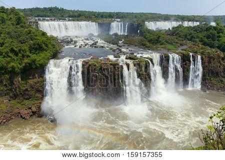 Iguazu. Natural Wonder of the World. Argentina. The majestic beauty of the waterfalls