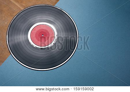 vintage audiophile and musiclover set; vynil musical disk;