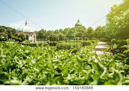 Dianatempel in beautiful green and beloved Hofgarten park Munich Germany poster