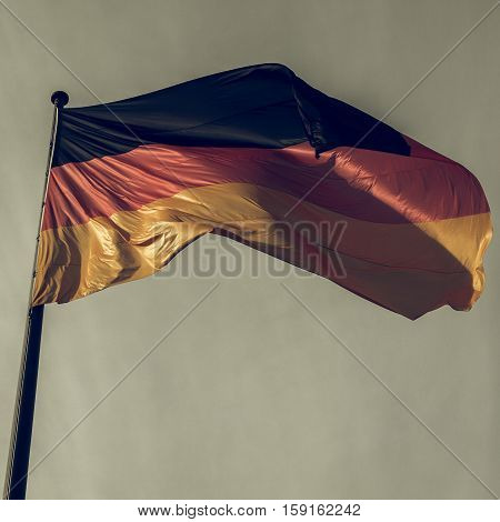 Vintage Looking German Flag