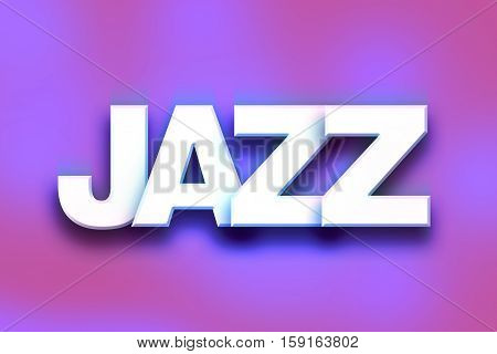 Jazz Concept Colorful Word Art