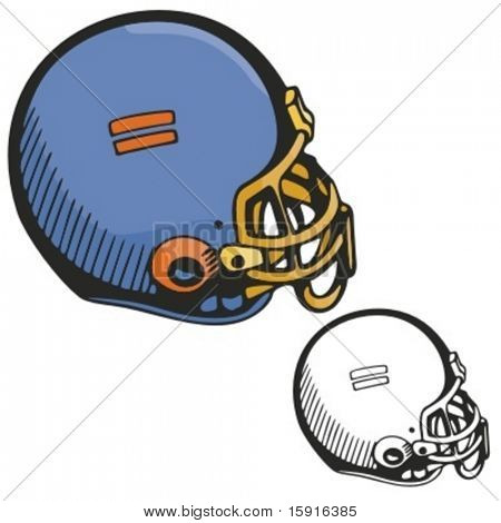 American football helmet. Vector illustration