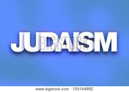 Judaism Concept Colorful Word Art