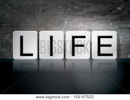 Life Tiled Letters Concept And Theme