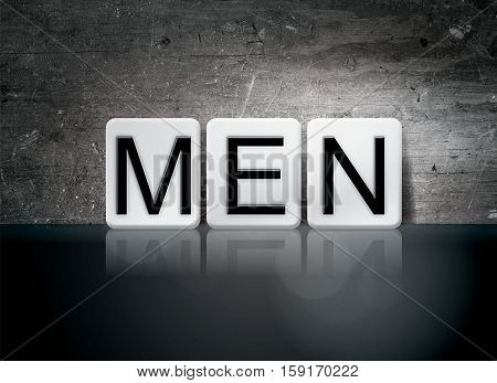Men Tiled Letters Concept And Theme